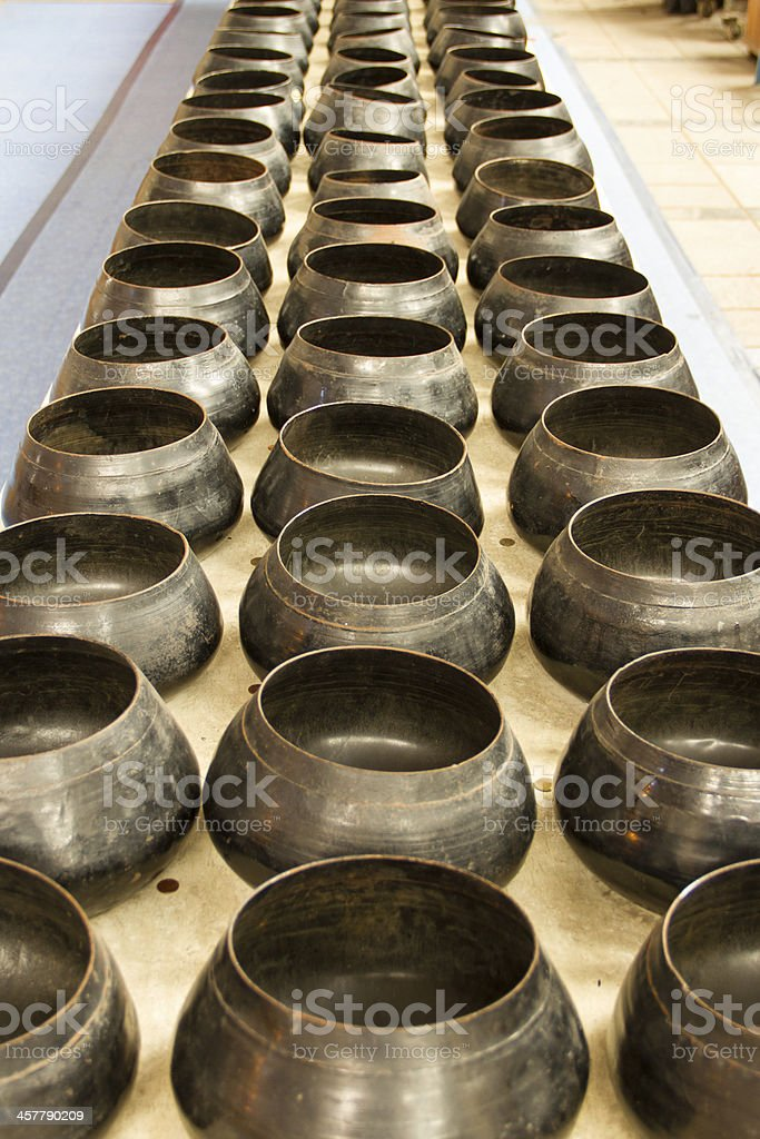 Bowl of 108 coins royalty-free stock photo