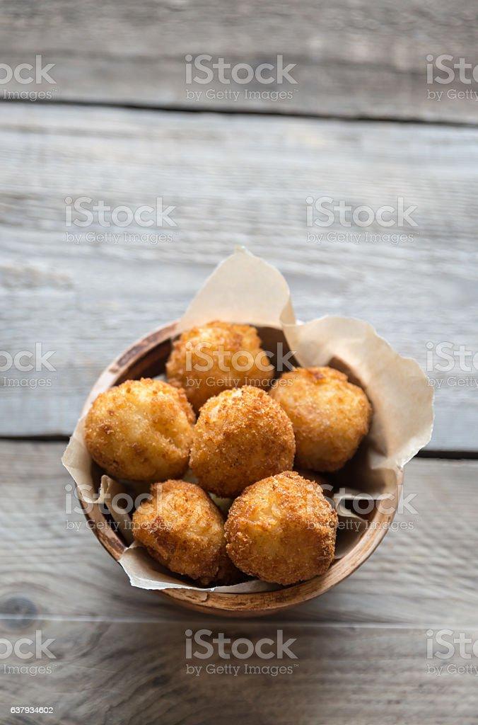 Bowl of arancini foto
