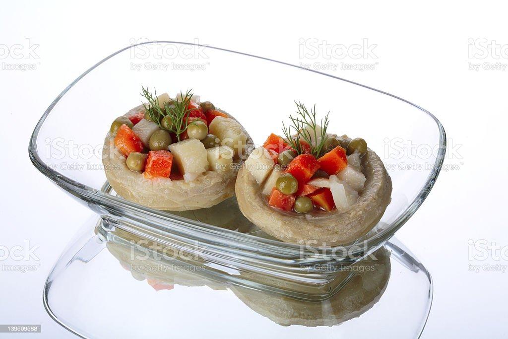 bowl of artichokes royalty-free stock photo