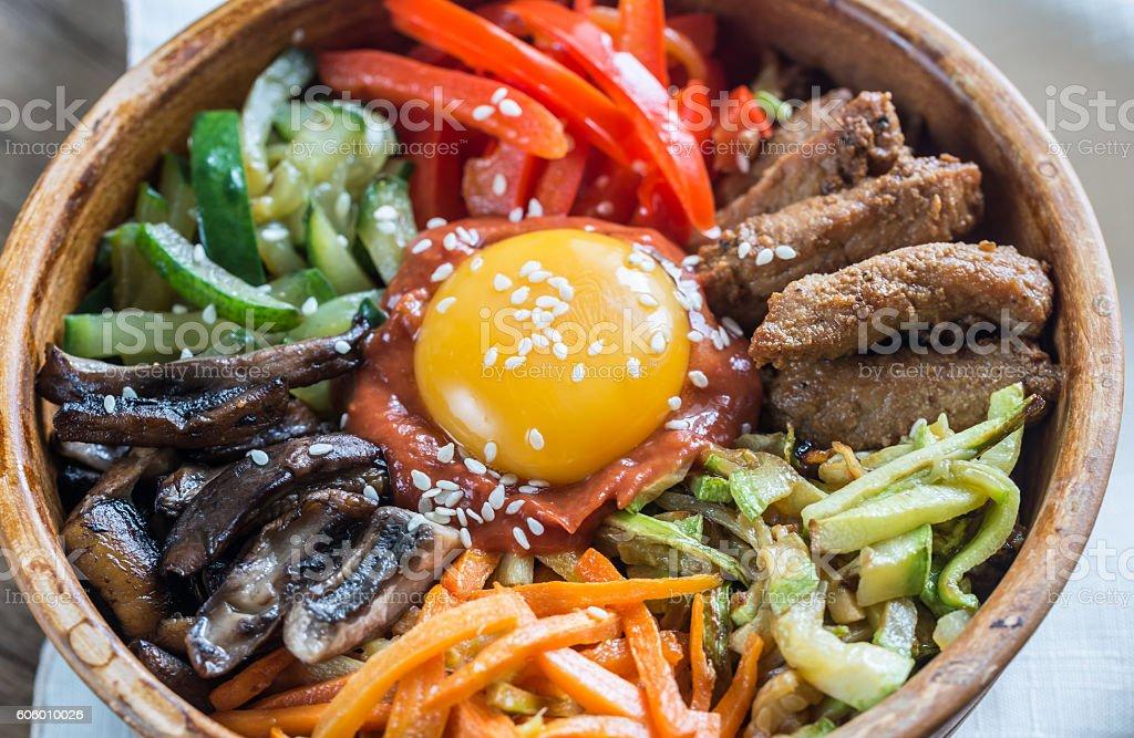 Bowl of bibimbap stock photo