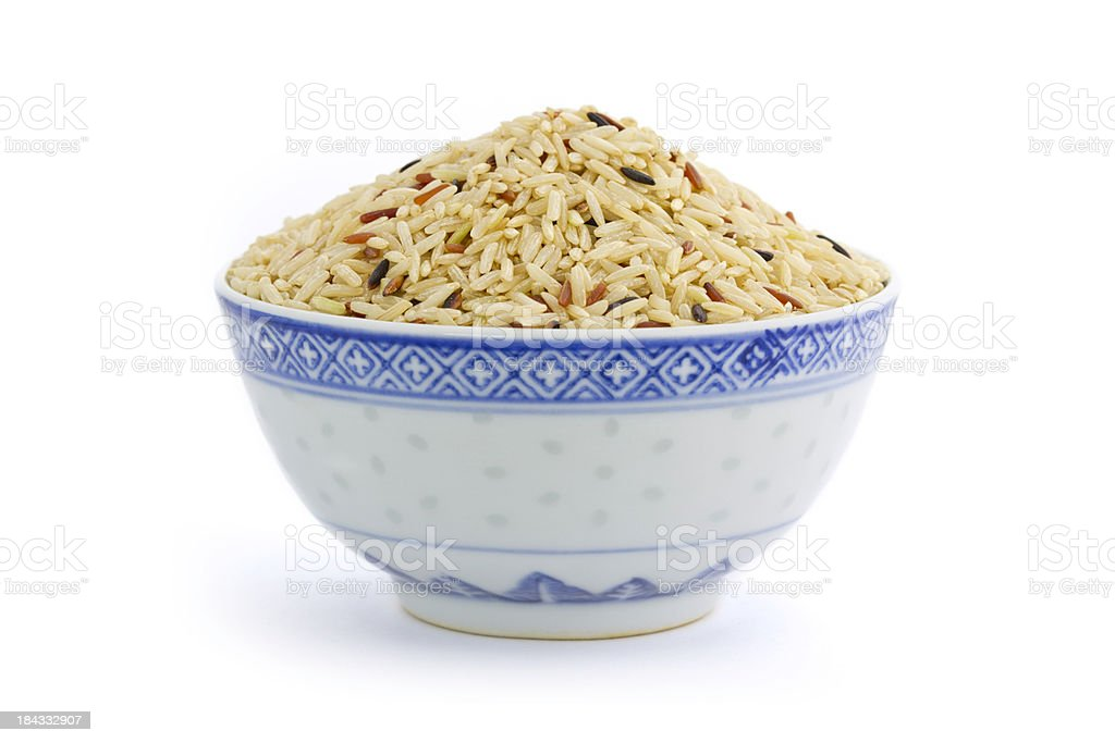 Bowl of Brown Rice. royalty-free stock photo