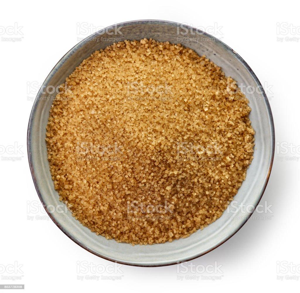 Bowl of brown sugar stock photo