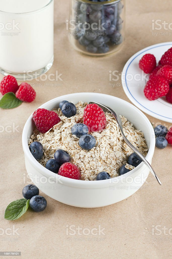 Bowl of cereal royalty-free stock photo