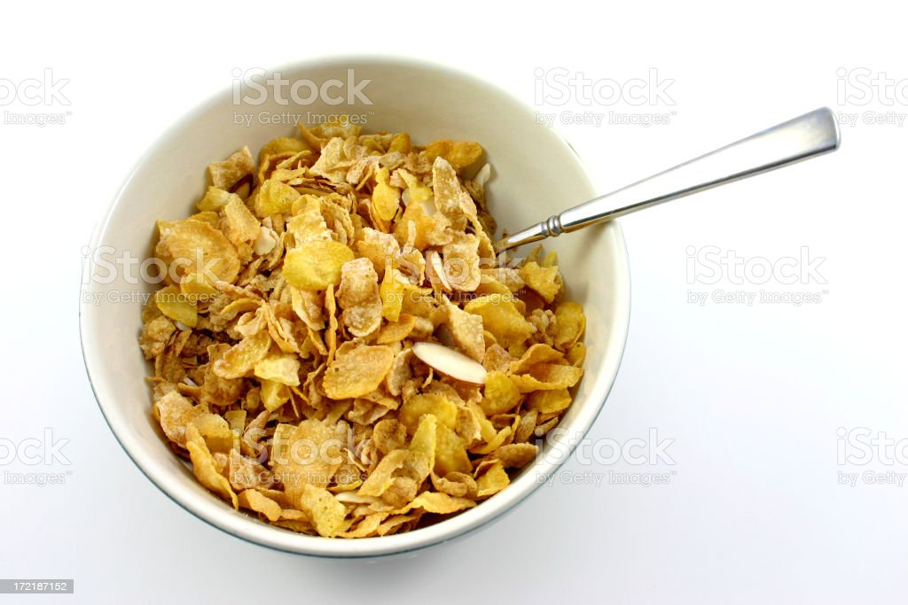 bowl of cereal. royalty-free stock photo