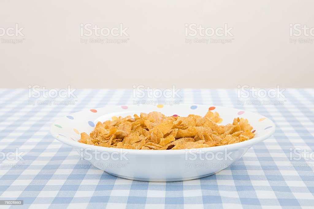 A bowl of cereal royalty-free 스톡 사진
