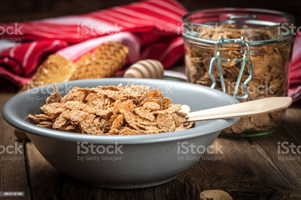 Bowl of cereals. royalty-free stock photo