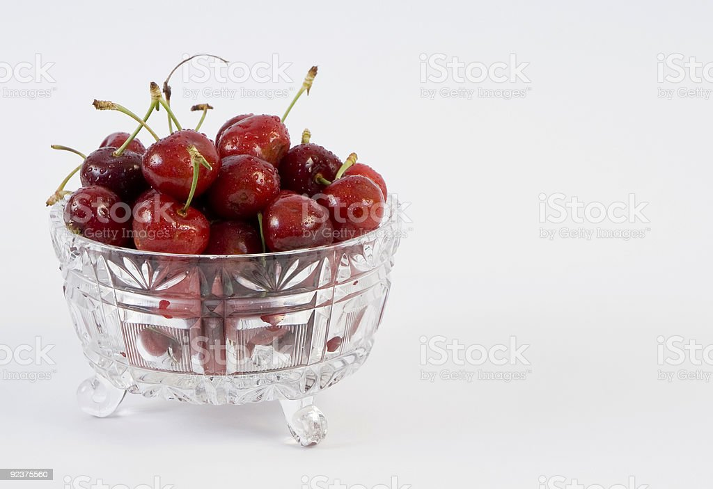 Bowl of cherries royalty-free stock photo