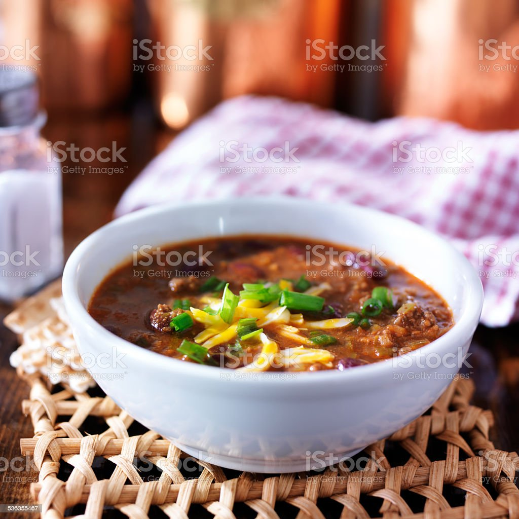 bowl of chil stock photo