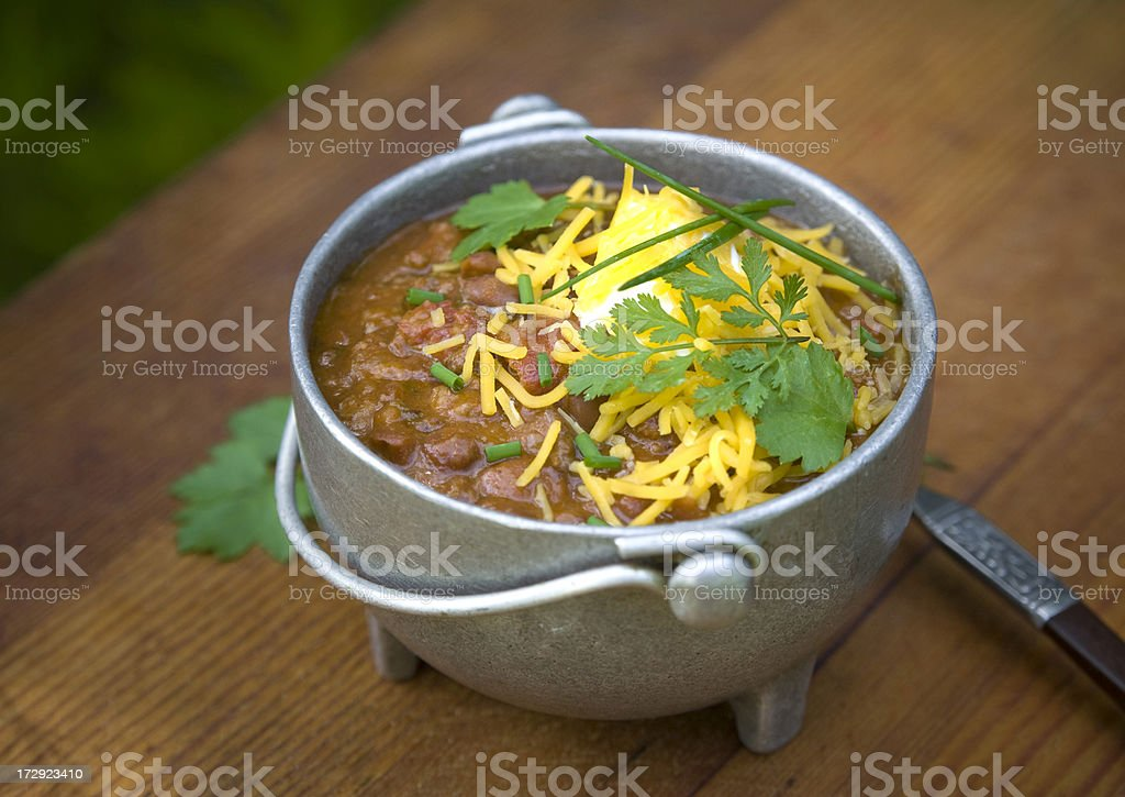 Bowl of Chili Beans with Beef, Meat Stew royalty-free stock photo
