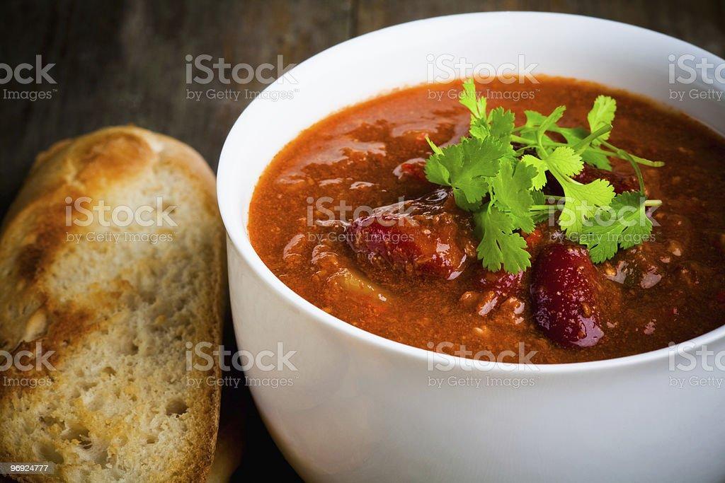 bowl of chili royalty-free stock photo