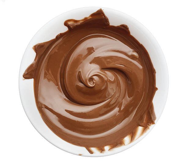 bowl of chocolate cream - chocolate swirl stock photos and pictures