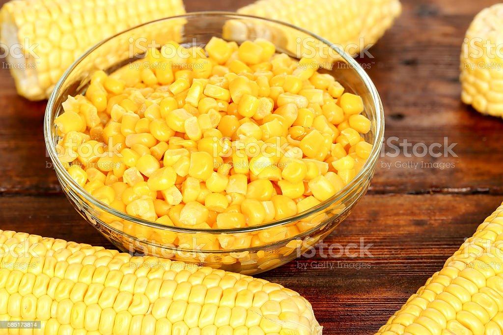 bowl of corn stock photo