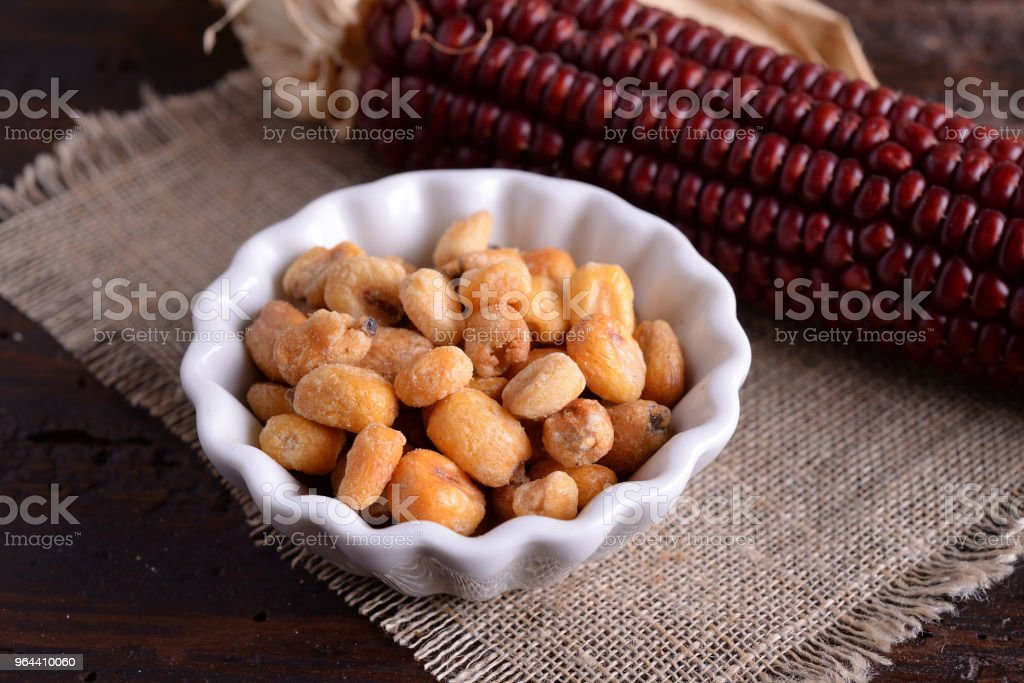 Bowl of corn with red panicle - Royalty-free Agricultural Field Stock Photo