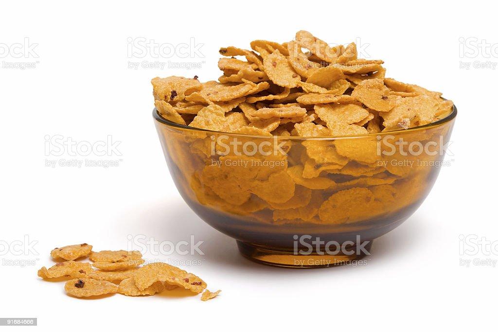Bowl of cornflakes royalty-free stock photo