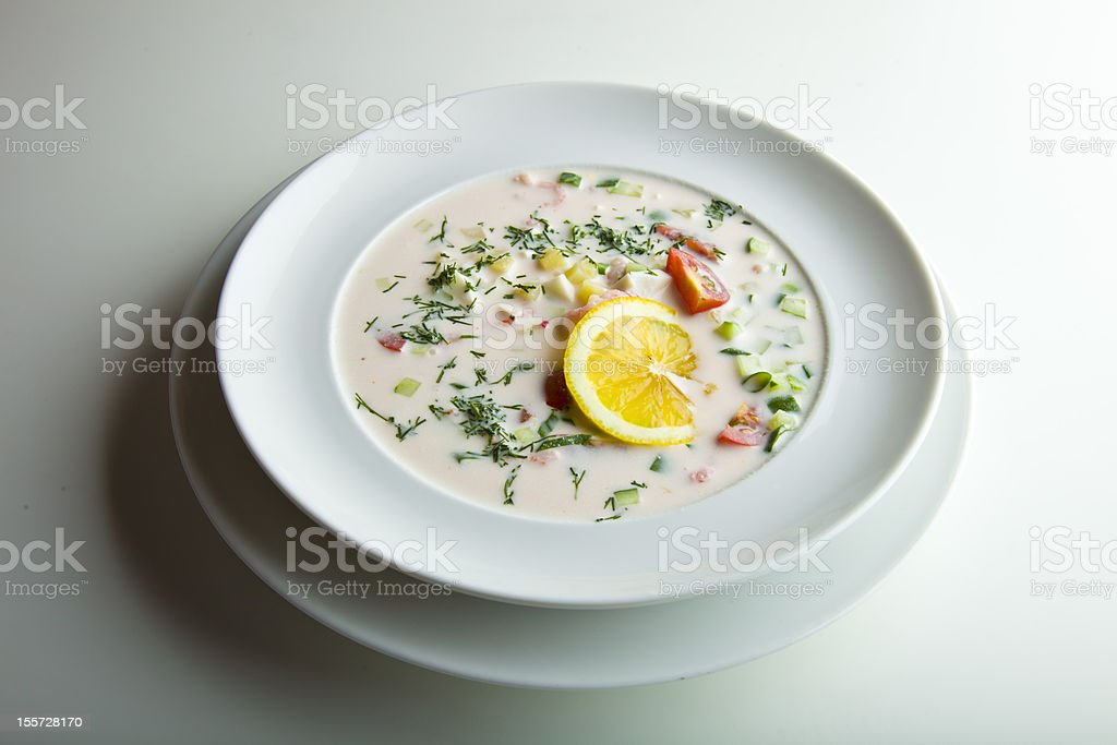 bowl of cream-soup royalty-free stock photo