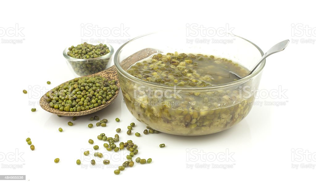 Bowl of dessert from mung beans stock photo