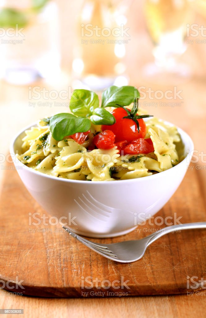 Bowl of farfalle pasta royalty-free stock photo