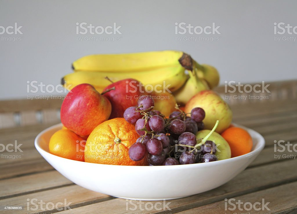 bowl of fresh fruit stock photo