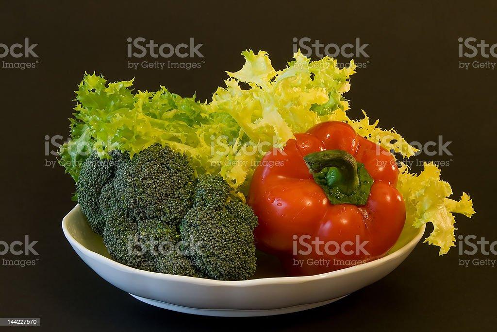 Bowl of fresh vegetables royalty-free stock photo