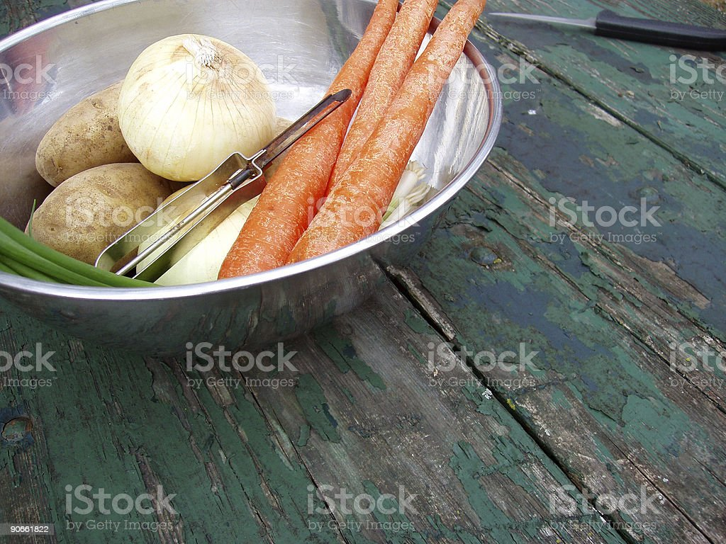 Bowl of Fresh Vegetables stock photo