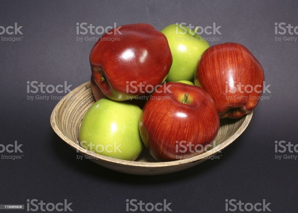 bowl of fruit apples royalty-free stock photo