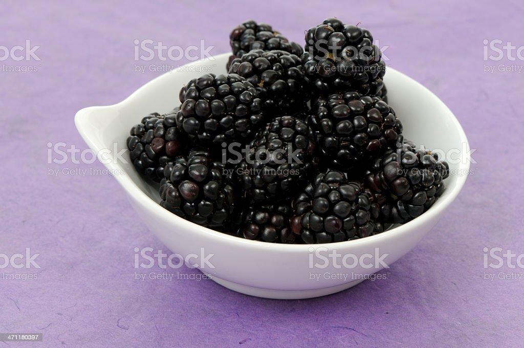 Bowl of fruit - blackberries royalty-free stock photo