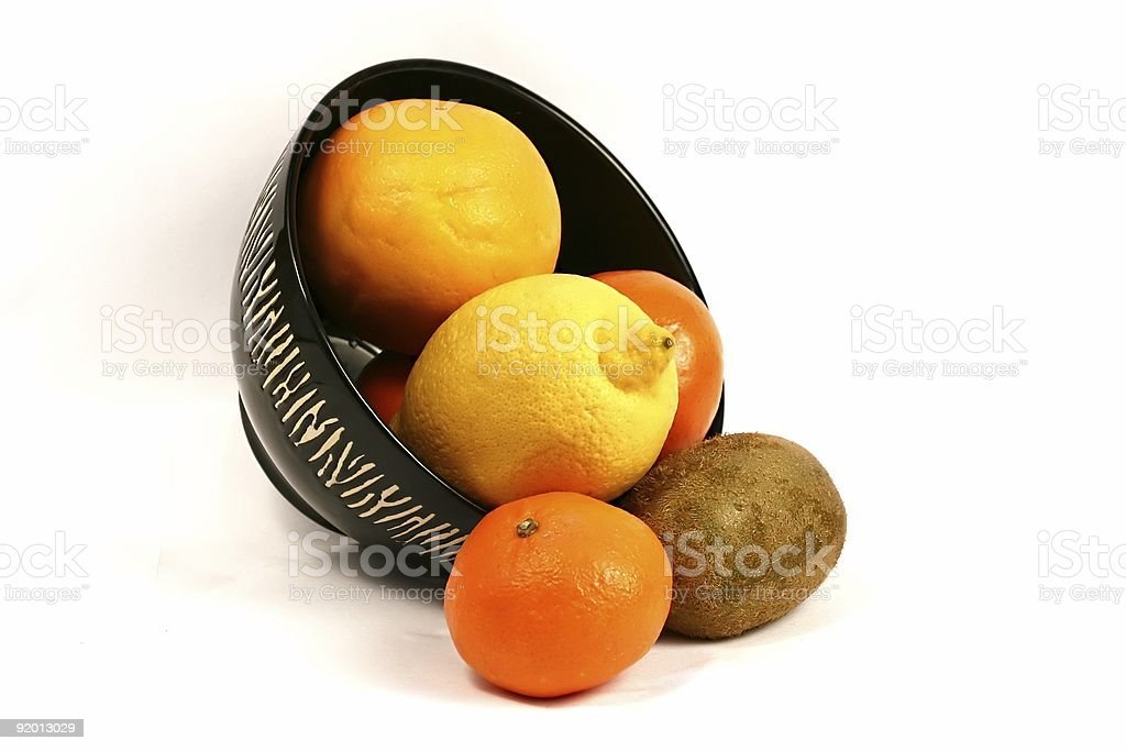 Bowl of Fruit stock photo