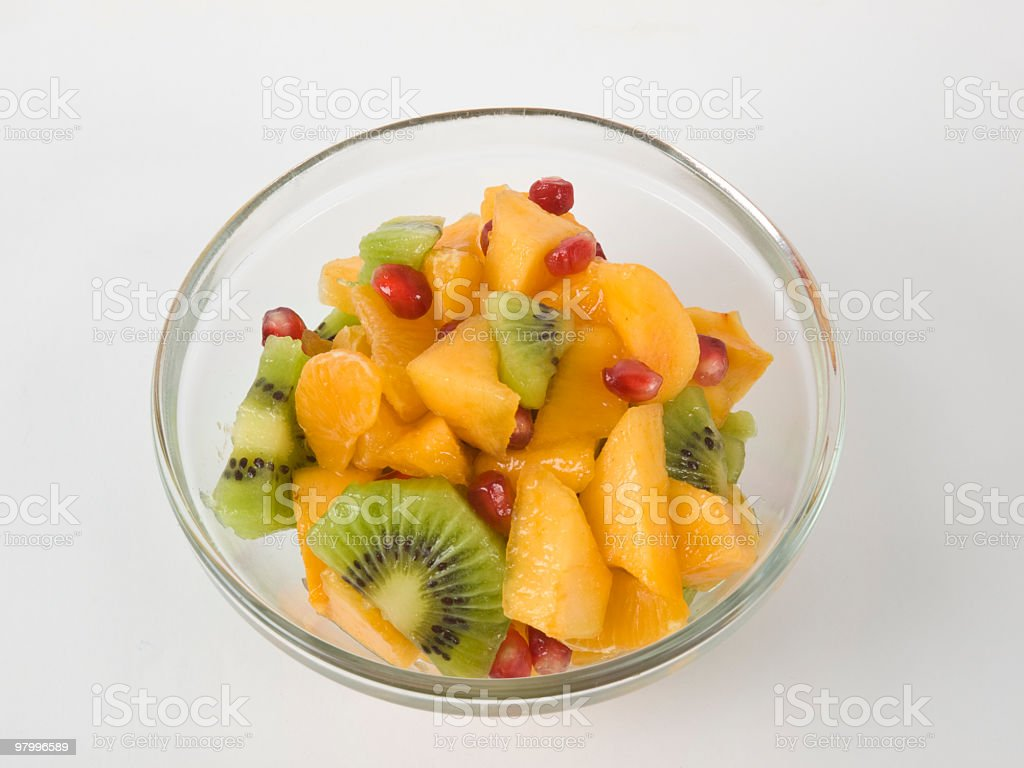 Bowl of fruit royalty-free stock photo
