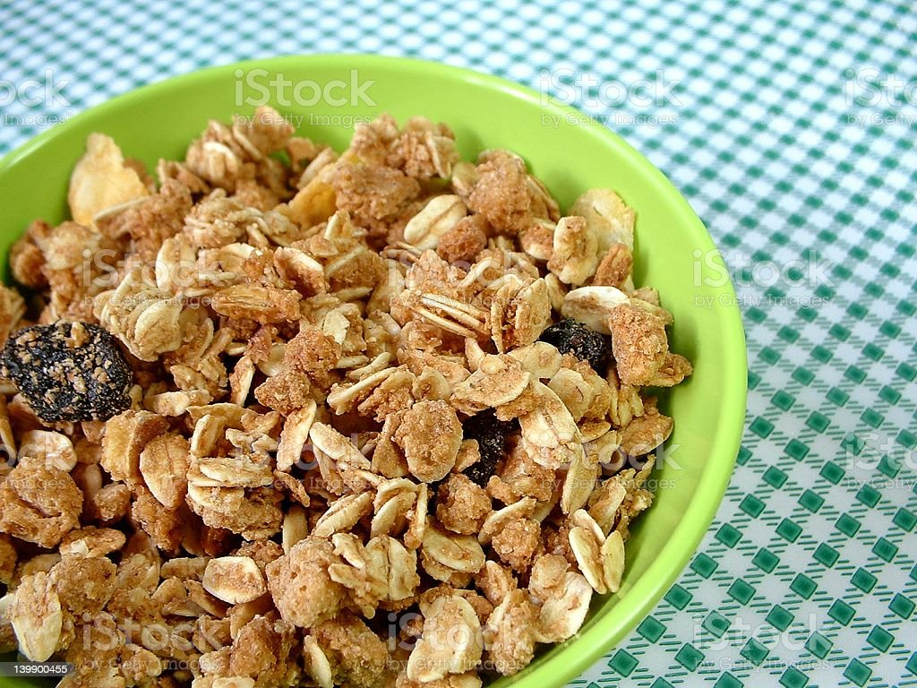Bowl of granola royalty-free stock photo