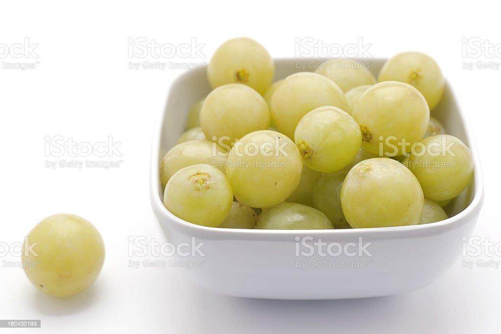 bowl of grapes royalty-free stock photo