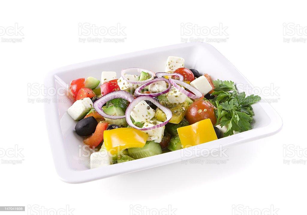 Bowl of Greek Salad royalty-free stock photo