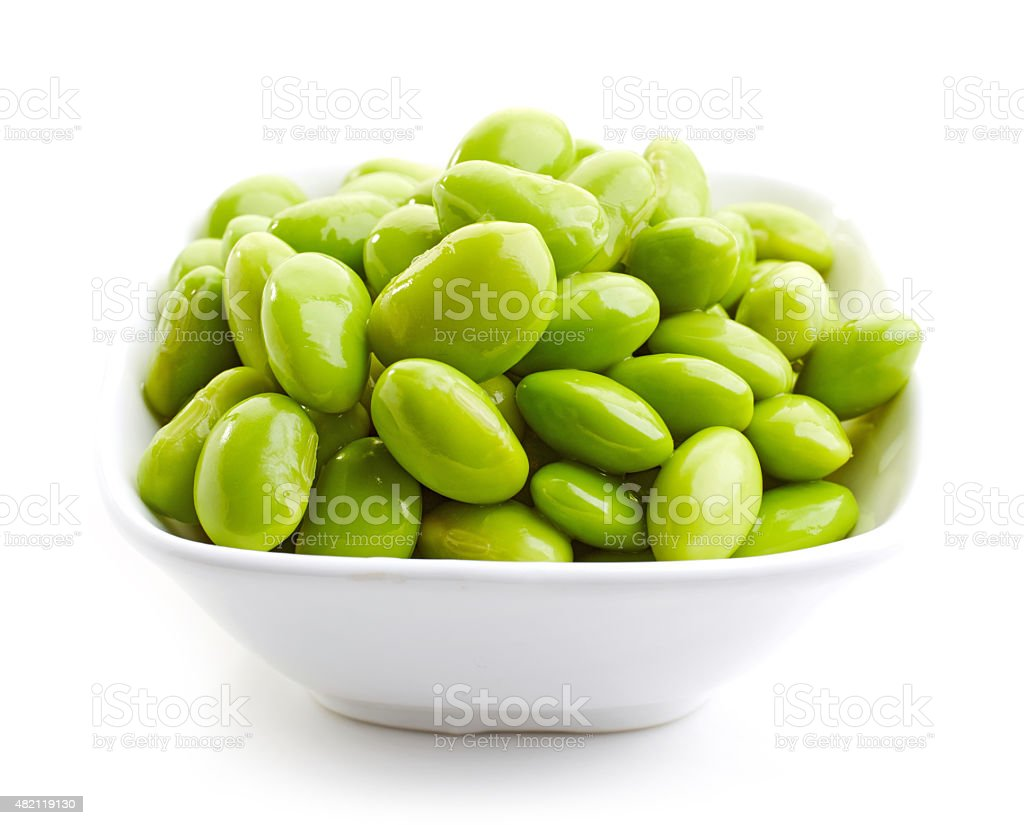 bowl of green beans stock photo