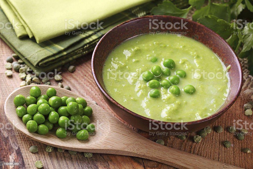 Green pea soup – Foto