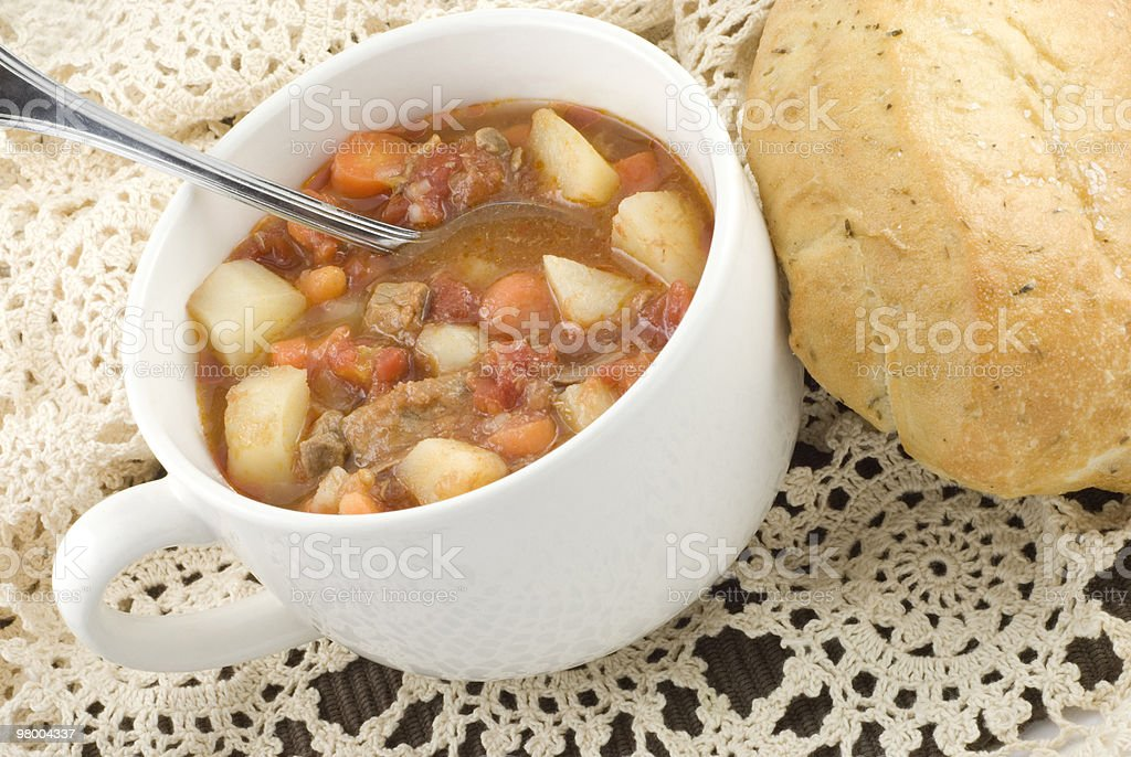 Bowl of Homemade Beef Stew royalty-free stock photo