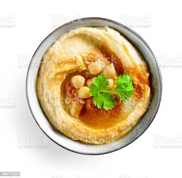 Bowl Of Hummus - Fotografias de stock e mais imagens de Almoço