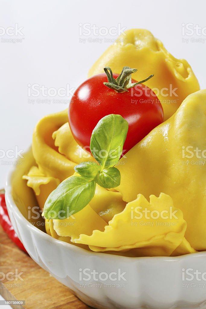 bowl of italian tortellini royalty-free stock photo