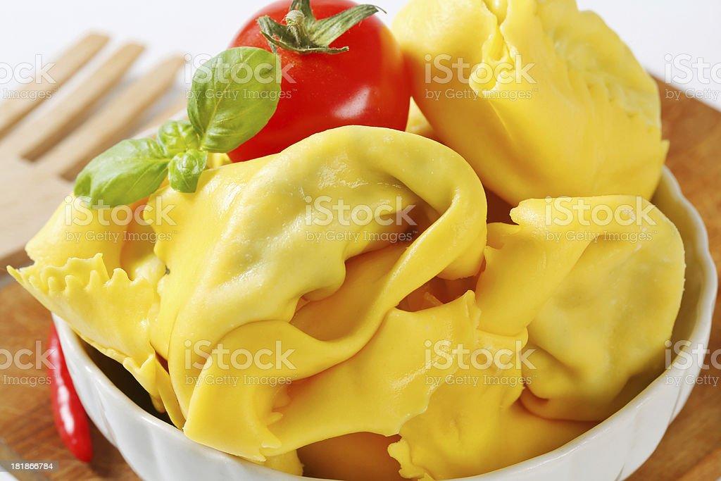 bowl of italian tortellini stock photo