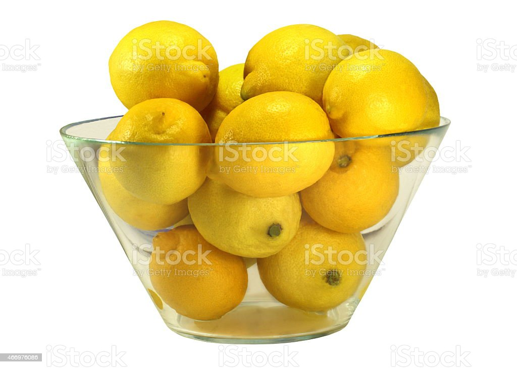 Bowl of Lemons stock photo