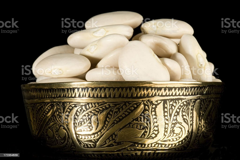 bowl of lima beans royalty-free stock photo