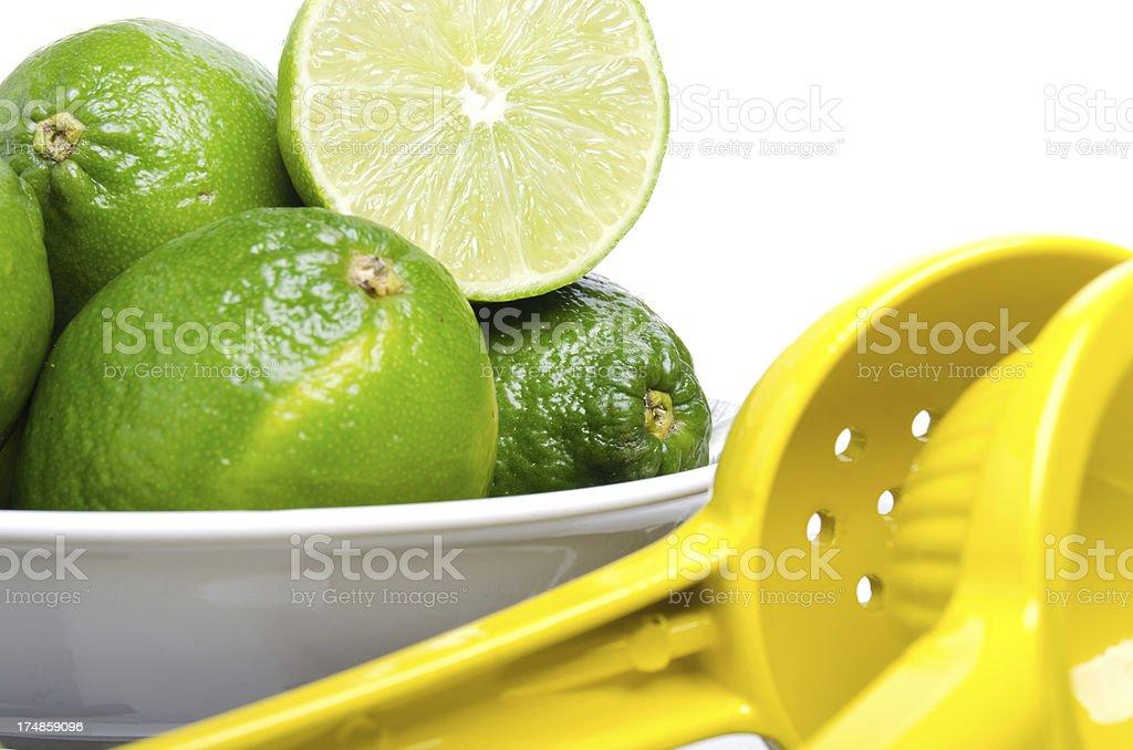 Bowl of Limes Closeup royalty-free stock photo