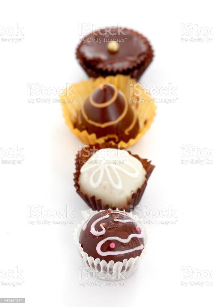 Bowl of many homemade chocolate truffles closeup Lizenzfreies stock-foto