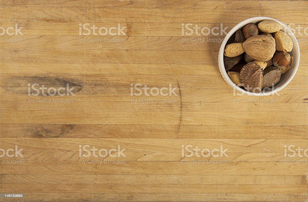 Bowl of Mixed Nuts royalty-free stock photo