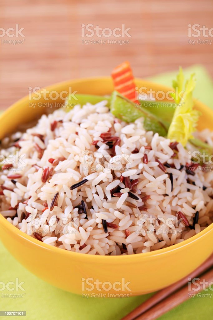 Bowl of mixed rice royalty-free stock photo