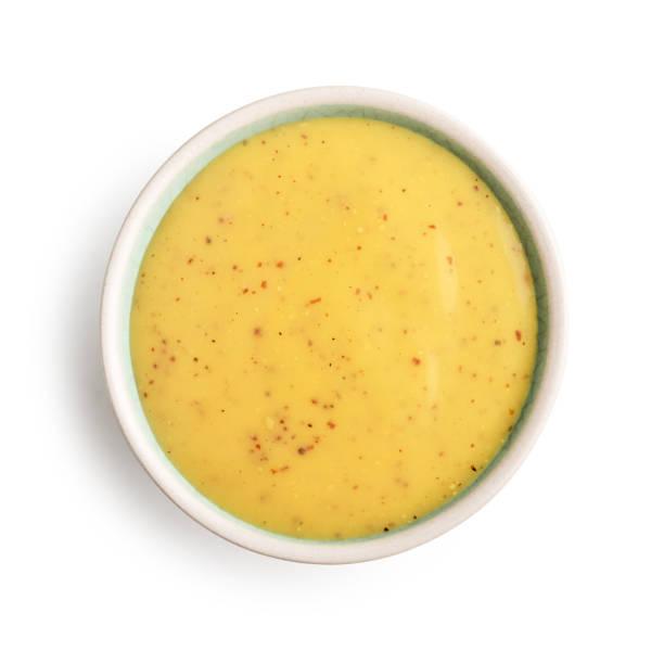 Schüssel mit Senf-Honig-sauce – Foto