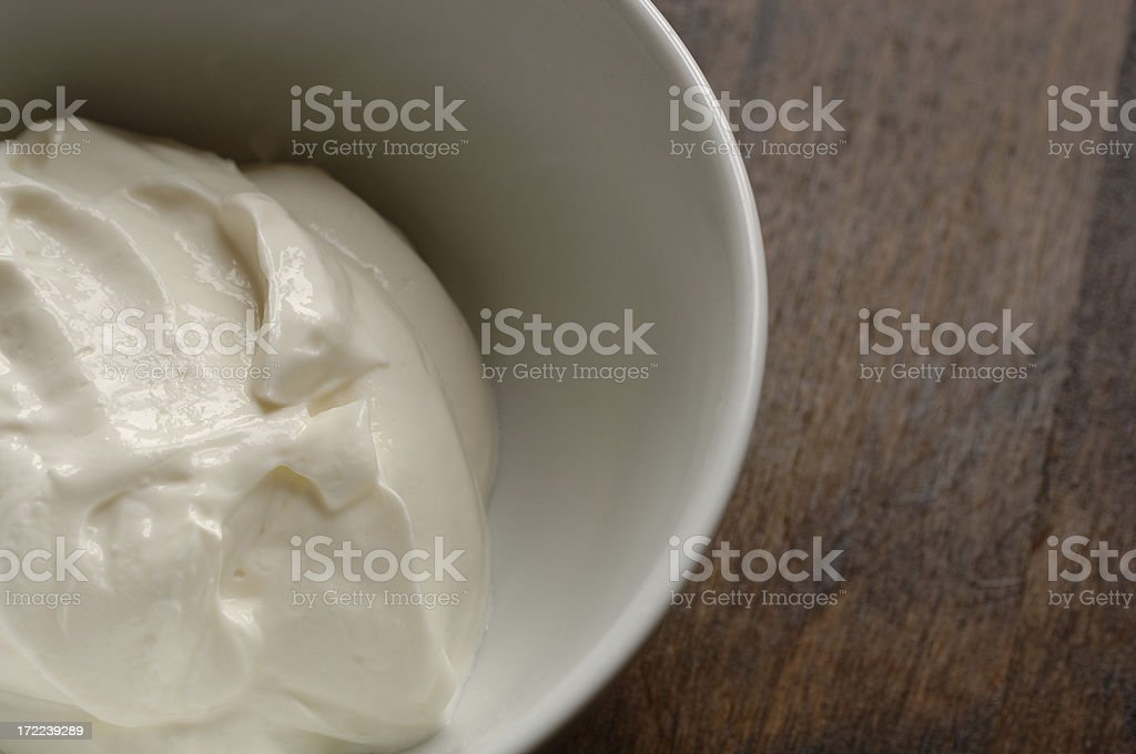 bowl of natural yoghurt royalty-free stock photo