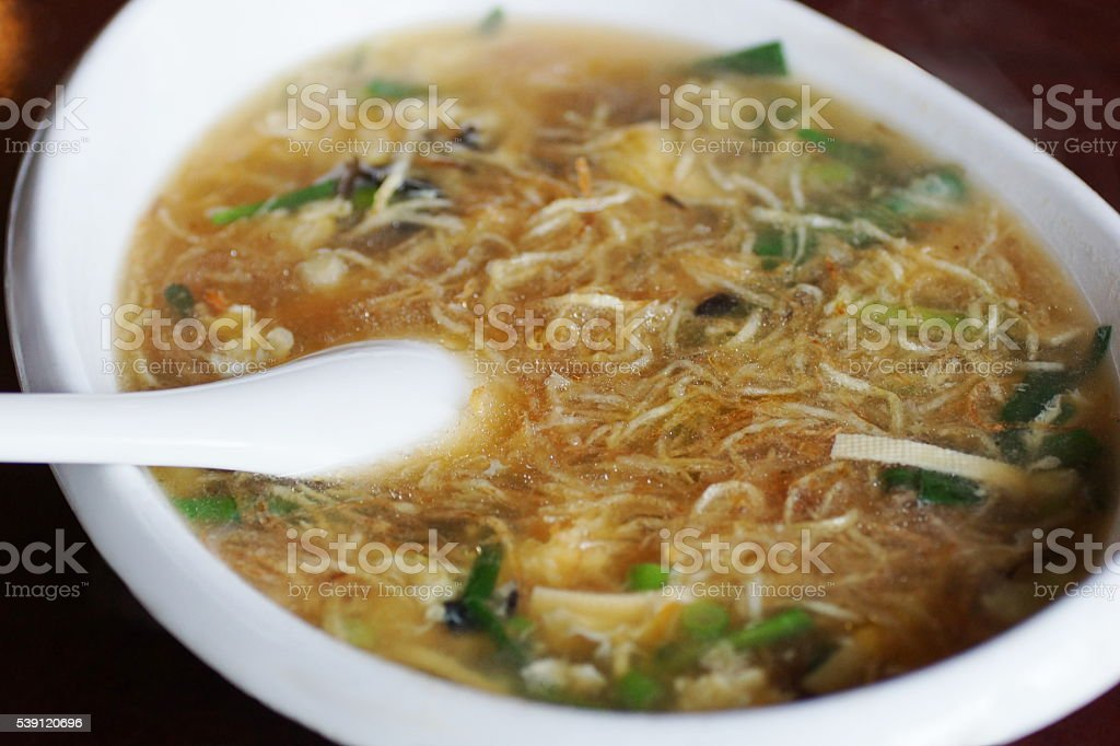 Bowl of noodle soup, China stock photo