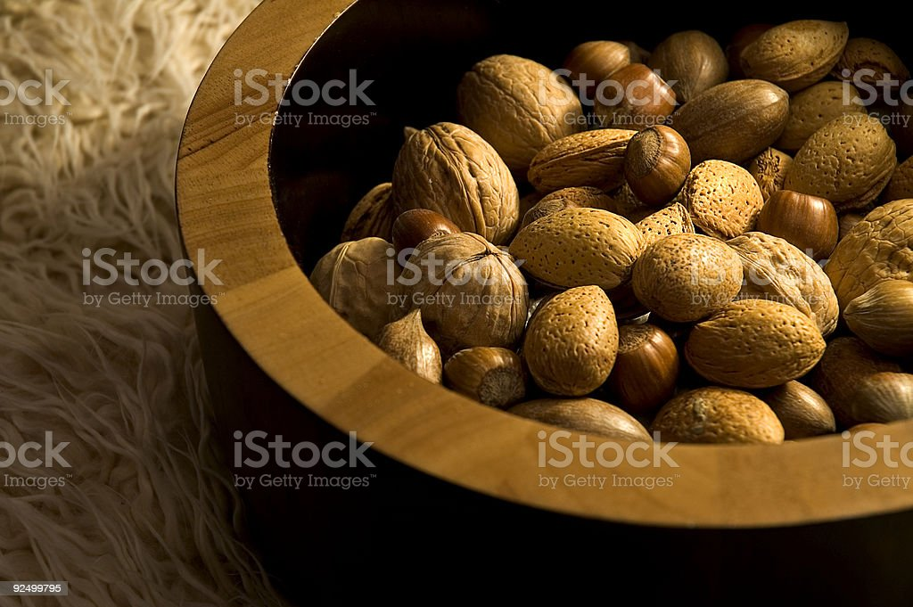 Bowl of Nuts 1 royalty-free stock photo