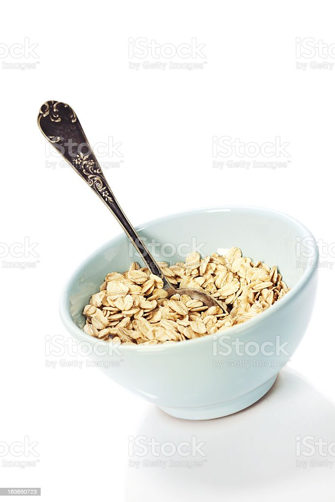 bowl of oat flake royalty-free stock photo