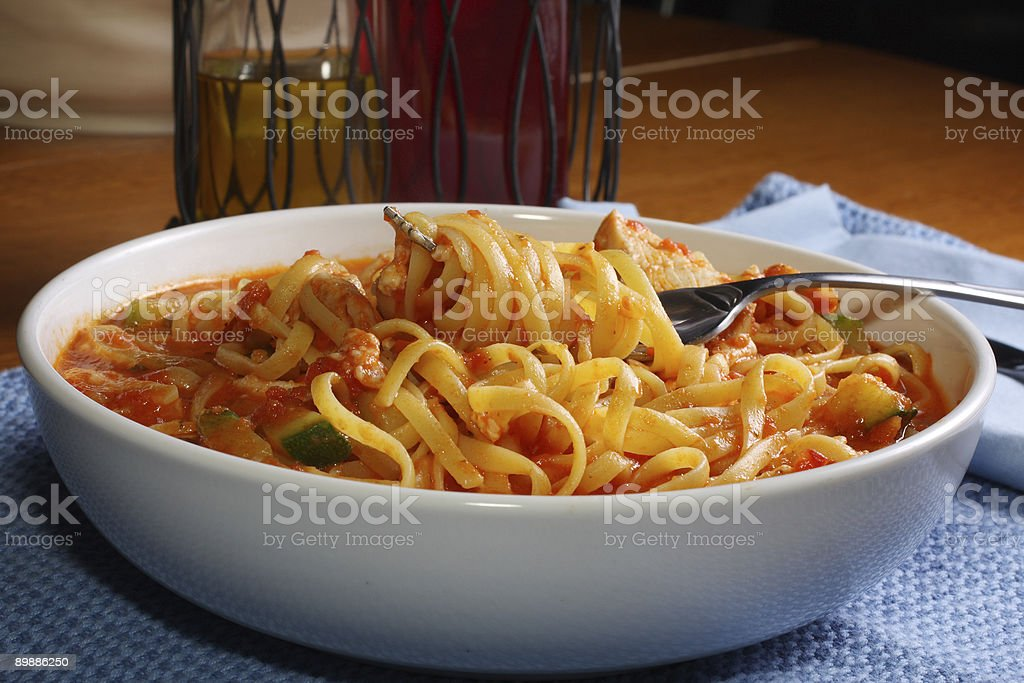 bowl of pasta royalty-free stock photo