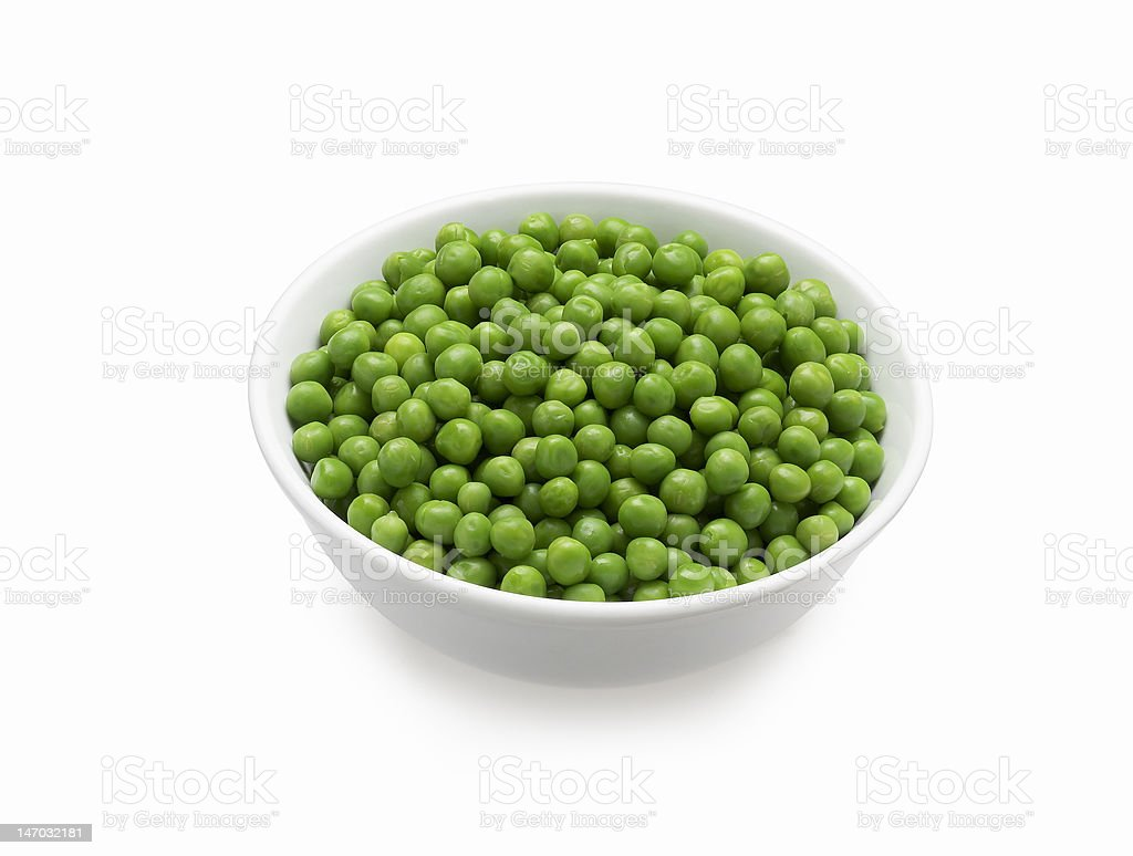Bowl of Peas stock photo